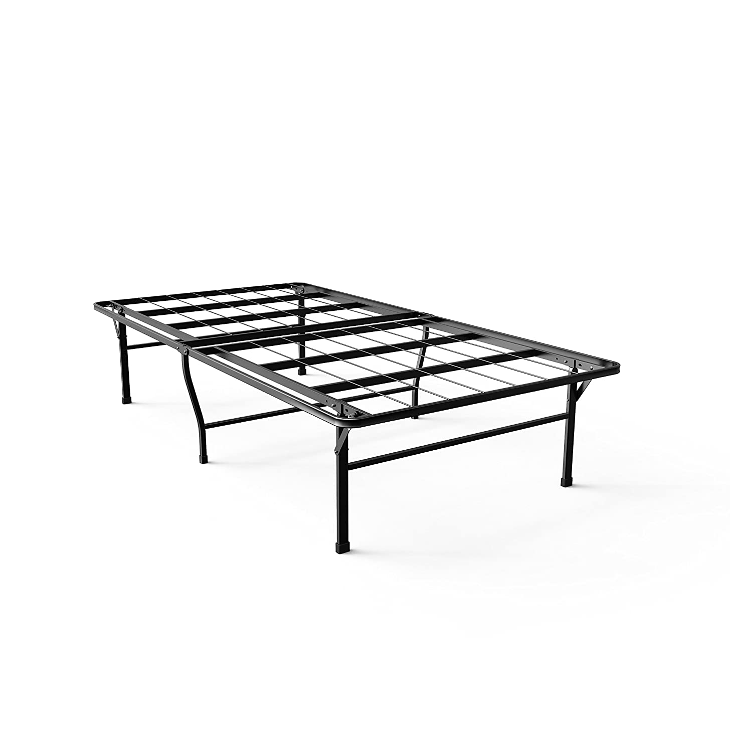 Zinus Gene 16 Inch SmartBase Deluxe Mattress Foundation / 2 Extra Inches high for Under-bed Storage / Platform Bed Frame / Box Spring Replacement / Strong / Sturdy / Quiet Noise-Free, Twin