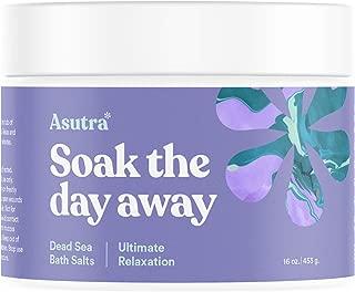 ASUTRA Dead Sea Bath Salts (Ultimate Relaxation), 16 oz   Melt Tension Away   Soak in Rich & Vital Healing Minerals   All Natural & Organic Cedarwood, Chamomile, Lavender, Marjoram Essential Oils