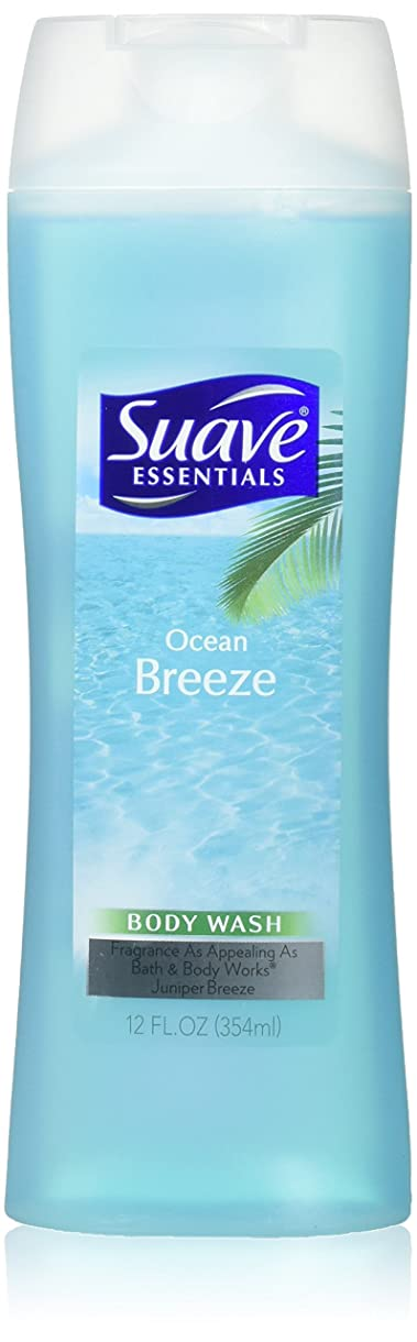オール測定可能液化する海外直送品Suave Naturals Body Wash, Ocean Breeze 12 Oz by Suave