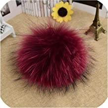 15cm DIY Fake Fur Pompom for Women Kids Beanie Hats Caps Natural Ball for Shoes Caps Bags