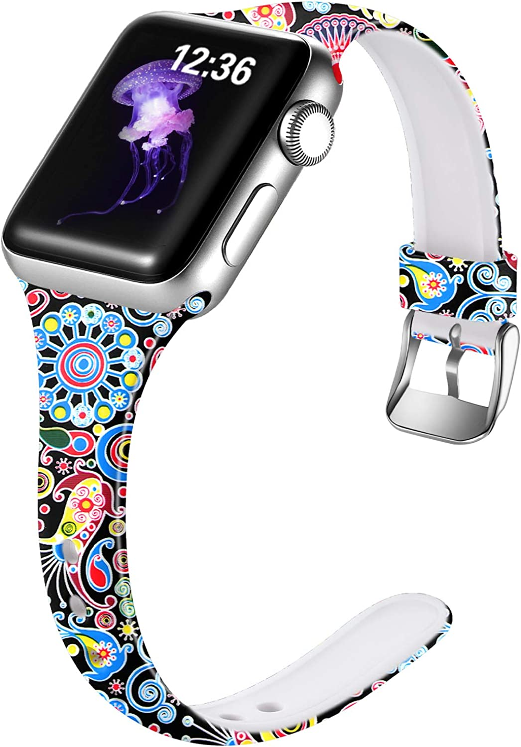 Laffav Compatible with Apple Watch Band 40mm 38mm 42mm 44mm iWatch SE & Series 6 & Series 5 4 3 2 1 for Womens girl