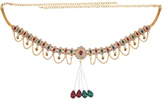 Archi Collection Fashion Jewellery Traditional Gold Plated Kundan Stone Pearl Tassel Kamarband Waist Chain for Women and G...