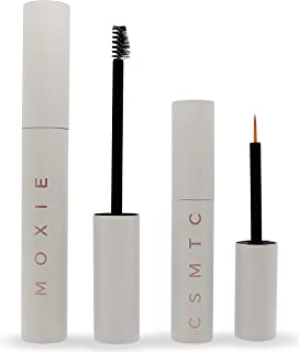 Eyelash Growth Serum and Eyebrow Enhancer | 2 BOTTLES | Boost Natural Lash and Brow Hair Growth | Grow Longer, Thicker, Fuller, Luscious Eyelashes and Eyebrows with MOXIE Cosmetics Serums