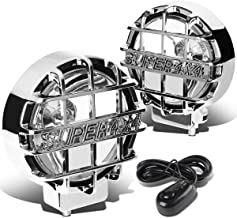 6 inches Round Fog Lights+Offroad Super 4X4 Guard+Switch For Grille/Brush/Bull bar (Clear Lens Chrome Housing)
