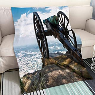 BEICICI Super Soft Flannel Thicken Blanket Civil War era Cannon ATOP Lookout Mountain overlooks Chattanooga Tennessee Fashion Ultra Cozy Flannel Blanket