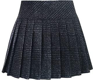 chouyatou Women's Casual Plaid High Waist A-Line Pleated Skirt