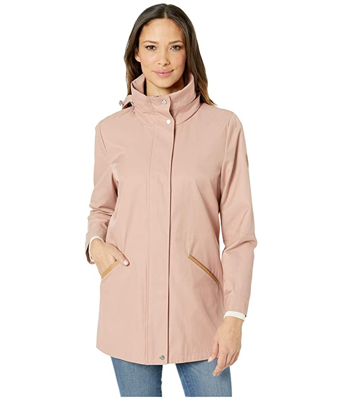 LAUREN Ralph Lauren Cotton Anorak with Faux Leather Trim and Hood (Blush) Women