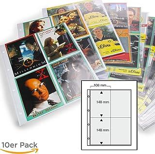 Weichmacherfrei Postkarten universal Lochung Platz f/ür bis zu 120 Urlaubsbilder Autogrammkarten Ideal f/ür Fotos Bilder SAFE 5471 15 x SAFE Fotoh/üllen DIN A4 Format 10 x 15 CM