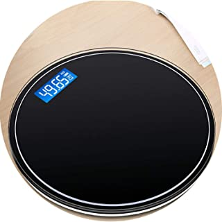 Round Bathroom USB Smart Weighing Scale Body Weight Measure Digital Mi Floor Scales Bascula Digital Peso Corporal Black Pink,Black