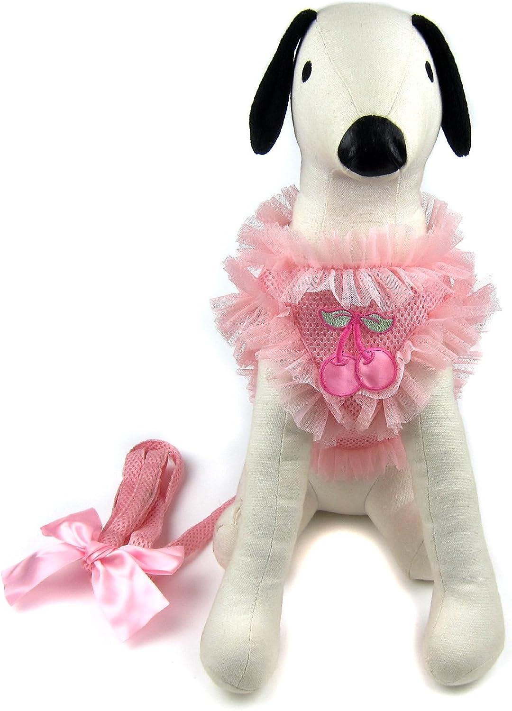Alfie Pet  Alex Diva Ruffle Harness and Leash Set  color  Pink, Size  Large