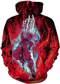 3D Print Men Hoodie Dragon Ball Goku Super Saiyan Hooded Sweater Coat Ultra Instinct #w06