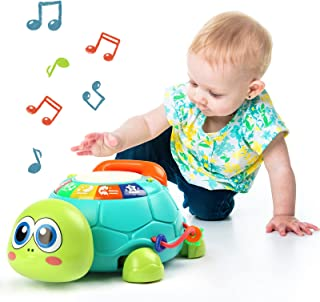 ZONICE Baby Toys 6 to 12 Months Musical Turtle Toys W/ Lights and Sounds Baby Crawling Toys, Early Educational Development...
