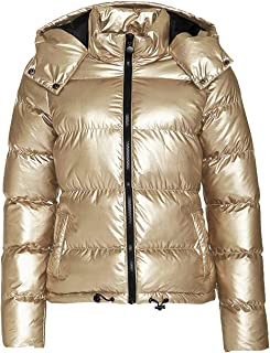 2ab21304edf Kooosin Womens Lightweight Outwear Coats Lightweight Water-Resistant Hooded  Down Metallic Bomber Nightclub Party Jacket