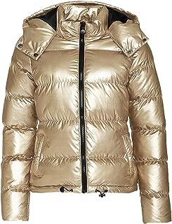 Womens Puffer Coats Lightweight Water-Resistant Hooded Down Metallic Puffer Jacket