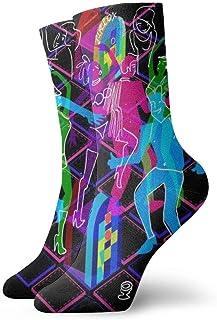 Rainbow Hardcore Dance Calcetines casuales transpirables Calcetines deportivos de viaje Yoga Caminar Ciclismo Correr Fútbol 30cm