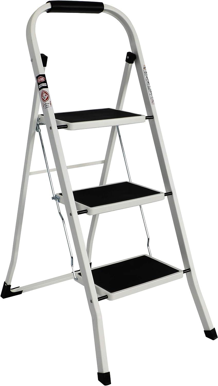 EFINE Sale price 3 Step Ladder discount Slim Folding Grade Stool w Steel High