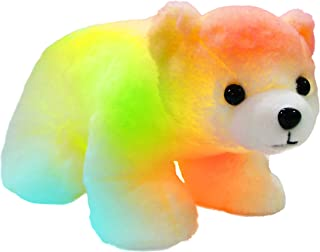 Bstaofy Glow Polar Bear LED Stuffed Animals Night Light Curious Soft Plush Adorable Floppy Toy Gift for Kids on Christmas Birthday Festival Occasions, 11'', White