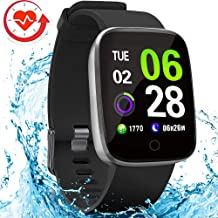 FITVII E-Pro Smart Watch, Fitness Tracker with Multiple Sport Mode, Heart Rate&Blood Pressure Monitor with SpO2 and Sleep Tracker, Waterproof Color Screen Activity Health Tracker for Women Men