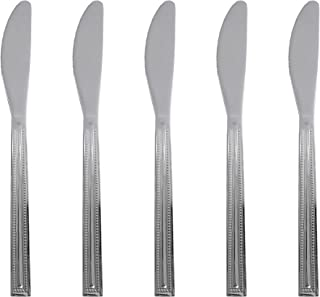 Royalford 6 Set Steak Knives Stainless Steel - Steel Cutlery Set for Home and Kitchen Dishwasher Safe   Serrated Dinner Kn...