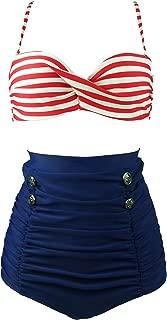 Best retro red polka dot bikini Reviews