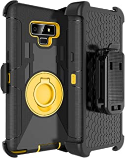 Fingic Phone Case for Note 9,for Note 9 Holster Case,Heavy Duty Rugged Armor Holster Clip..