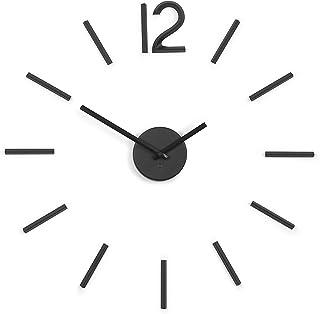 Umbra Blink Clock, Metal, Black, 33.02 x 33.02 x 5.08 cm
