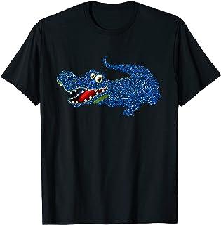 bleu cadeau alligator crocodile classique filles garçons T-Shirt