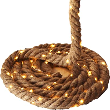 Seil-Girlande mit Lichterkette