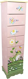 Fantasy Fields - Magic Garden Thematic 7 Drawer Wooden Cabinet for Kids Storage   Imagination Inspiring Hand Crafted & Painted Details Non-Toxic, Lead Free Water-based Paint