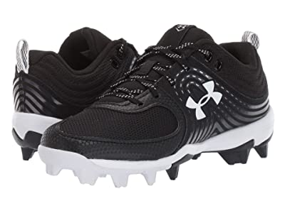Under Armour Kids Glyde RM Softball (Toddler/Little Kid/Big Kid) (Black/White) Kids Shoes
