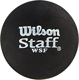 Wilson Unisex Adult 2-WRT617700 Staff Squash 2 Ball - Red Dot, One Size