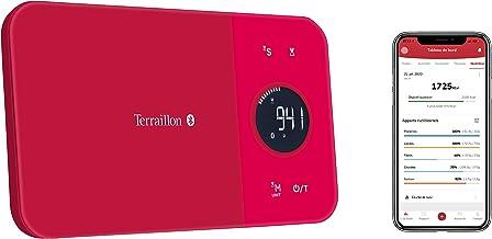 Terraillon 14414 Balance de Cuisine Connectée, Apports Énergétiques, Tare, Conversions Liquides, Minuteur, Bluetooth, 5 k...