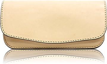 [札幌革職人館] メガネケース 日本製 牛革 ヌメ革 ナチュラル