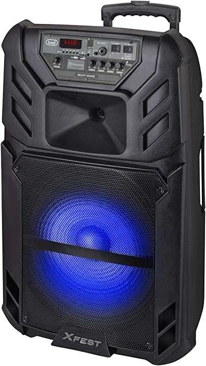 Altoparlante amplificato portatile con mp3,usb,microsd,aux-in,bluetooth,batteria integrata trevi xfest xf 1500 0X150000