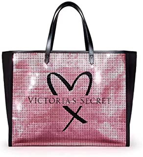 Victoria's Secret Pink Showstopper Sequin Bling Tote Bag
