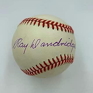 Ray Dandridge Signed Baseball - Official National League COA - JSA Certified - Autographed Baseballs