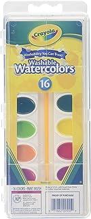 Crayola Washable Watercolors, 16 Count - 2 Per Case (530555)