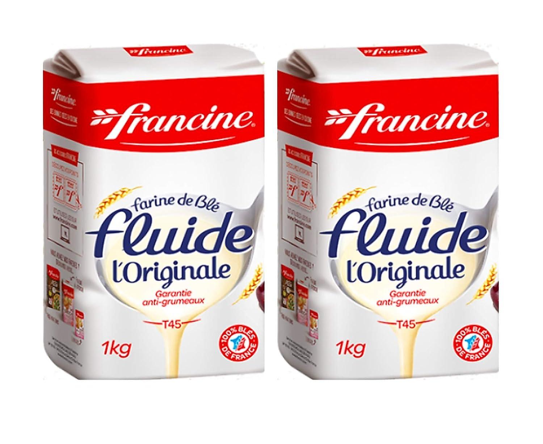 Francine Farine de ble Fluide - French Imported T45 Original Flu