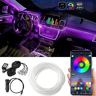 LIMOS Car LED Strip Lights,Multicolor RGB Car Interior Lights,16 Million Colors with Fiber Optic,Ambient Lighting Kits, So...