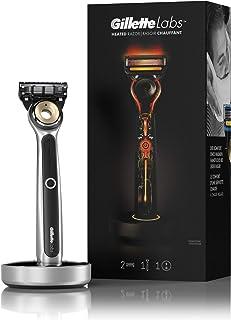 Sponsored Ad - Gillette Heated Razor Starter Kit - 1 Handle, 2 Blade Refills, 1 Charging Dock