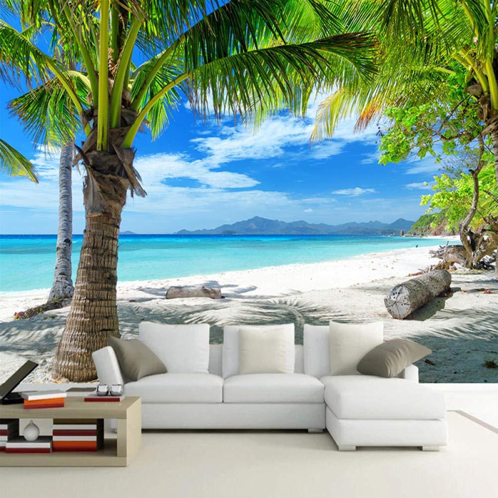 Photo Mural Wallpaper Purchase 3D Ranking TOP2 Sea Beach Wall Seascape Tree Pa Coconut