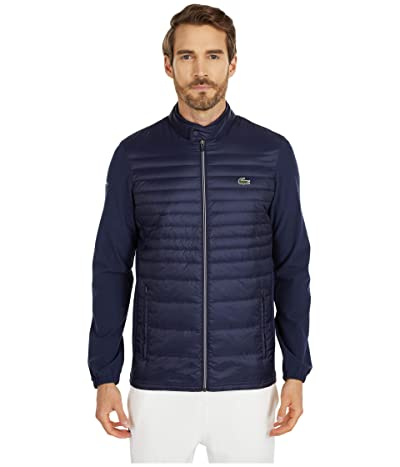 Lacoste Long Sleeve Padded Golf Jacket (Navy Blue/Navy Blue/Navy Blue) Men