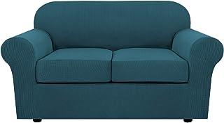 Fundas elásticas para sofá de 3 piezas, para 2 fundas de s
