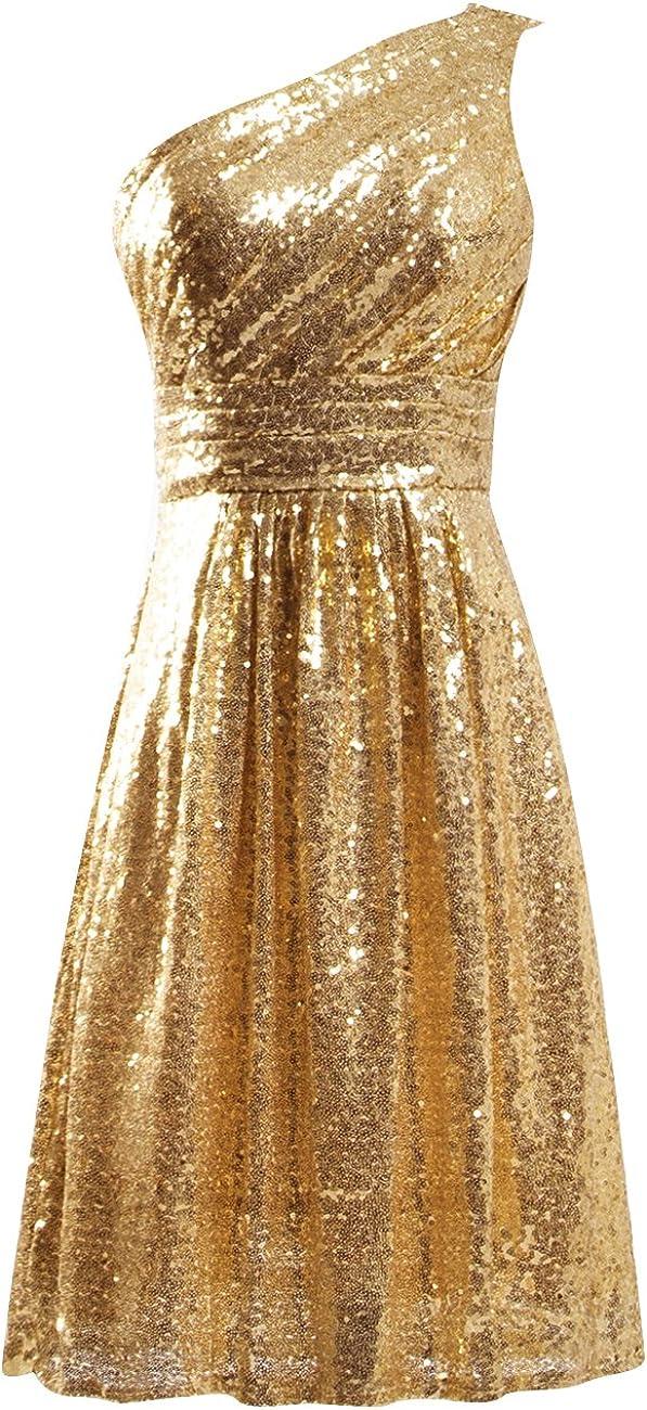 JAEDEN Cocktail Dress Sequin Short Bridesmaid Dresses Prom Party Dress Sequin Homecoming Dress
