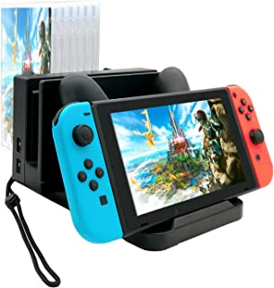 Charging Dock for Nintendo Switch and Switch Pro Controller,Organizational Charging Stand for Nintendo Switch Accessories with Charging Indicator Light