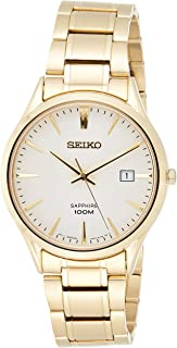 SEIKO Men's Quartz Watch, Analog Display and Stainless Steel Strap SGEH72P1