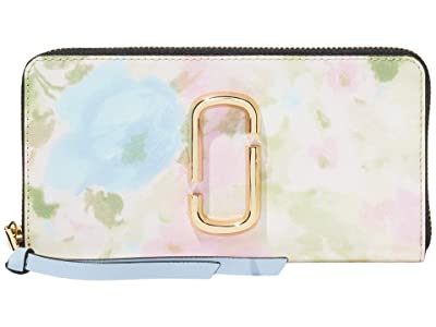 Marc Jacobs Snapshot Watercolor Standard Continental Wallet (Pink Multi) Wallet Handbags