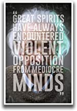 DHDM Great Spirits Have Always Encountered Albert Einstein Education Poster | 12-Inches by 18-Inches | Inspirational & Motivational Poster | JSC755
