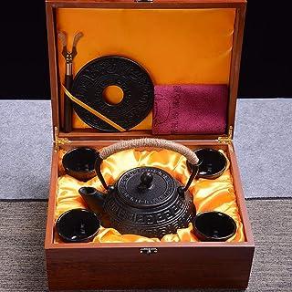 Q-HL Théières En fonte japonaises théière Théière en fonte avec infuseur amovible Bouilloire à thé de style japonais Tetsu...