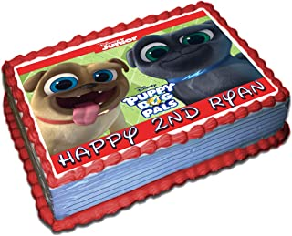 Puppy Dog Pals personalized Cake Toppers Icing Sugar Paper 1/4 8.5 x 11.5 Inches Sheet Edible Frosting Photo Birthday Cake Topper Fondant Transfer (Best Quality Printing)